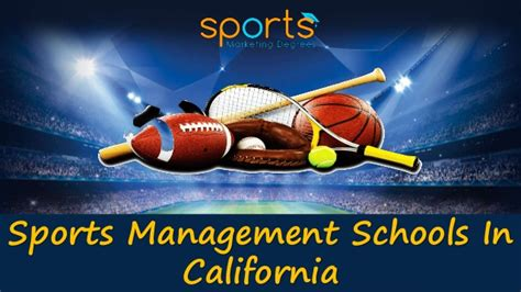 Mba Colleges In California by Best Sports Management Studies From Of California