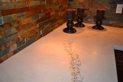 Concrete Countertops Toronto by Large Kitchen With Concrete Countertop Modern Kitchen