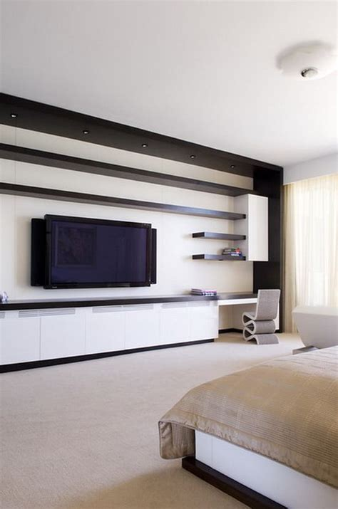 bedroom tv shelf 55 cool entertainment wall units for bedroom