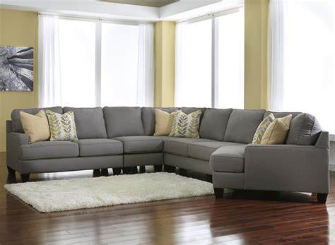 sectional sofa with cuddler signature design by chamberly alloy modern 5 sectional sofa with right cuddler