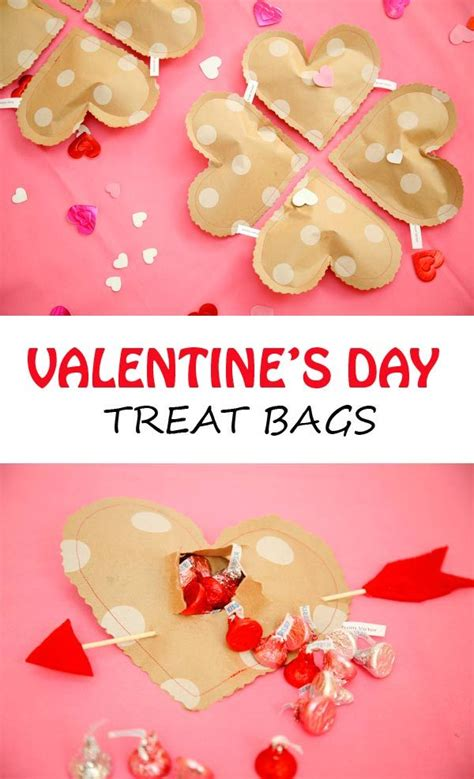 s day treat ideas diy valentines treat bags crafts