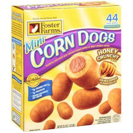 foster farms corn dogs foster farms honey crunchy flavor mini corn dogs 44ct walmart