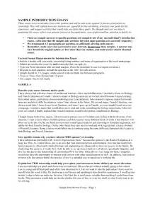 Exle Of Essay Introduction by Resume Cover Letter Introductory Paragraph Exles