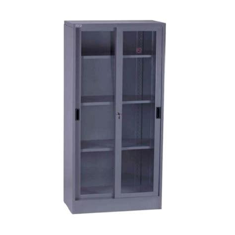 Lemari Arsip Besi Pintu Geser Kaca jual vip v 602 lemari arsip besi tinggi pintu sliding kaca