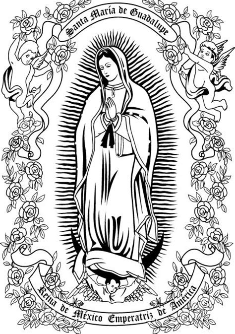 mary virgen guadalupe coloring pages