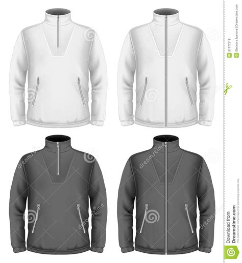 Men S Fleece Sweater Design Templates Stock Vector Image 51777518 Sweater Design Template