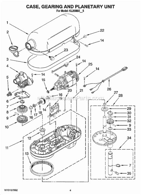kitchenaid parts diagram kitchenaid kl26m8xob5 parts list and diagram