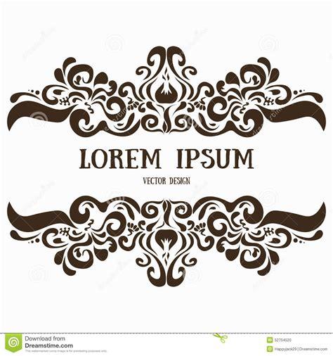 wedding logo border ornamental vector pattern frame border stock vector