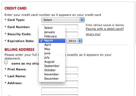 Credit Card Format Code Format The Expiration Date Fields Exactly As The Credit Card 40 Get It Wrong Articles
