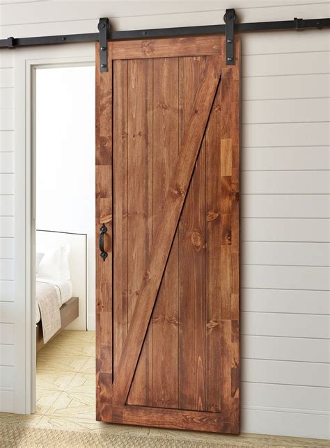 barn door kit for any opening this rustic sliding barn door kit provides an interesting and