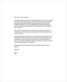 Apology Letter To Customer Compensation Apology Letter Exles