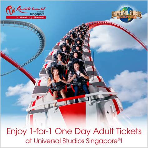 Adulttiket Universal Studio Singapore Open Date don t say bojio 1 for 1 tickets for all rws attractions