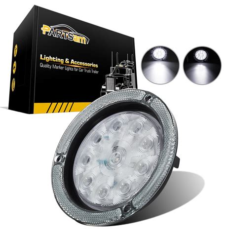 boat trailer led reverse lights 4 quot round white led truck trailer boat 10 diodes reverse