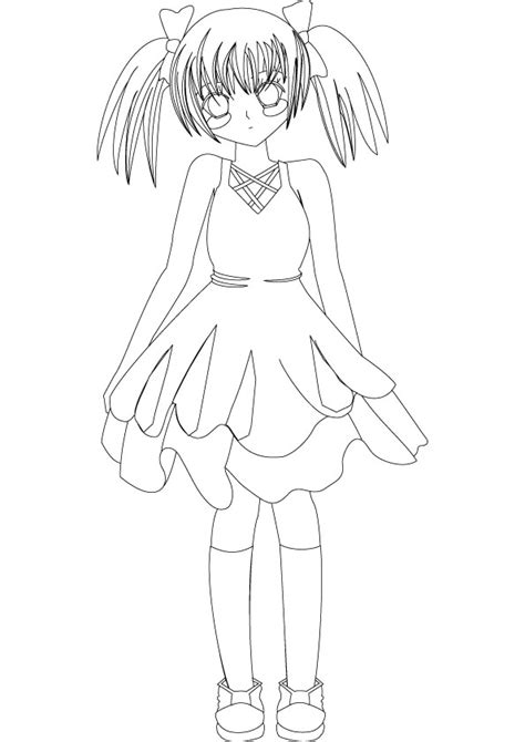 manga girl coloring pages free manga anime coloring pages