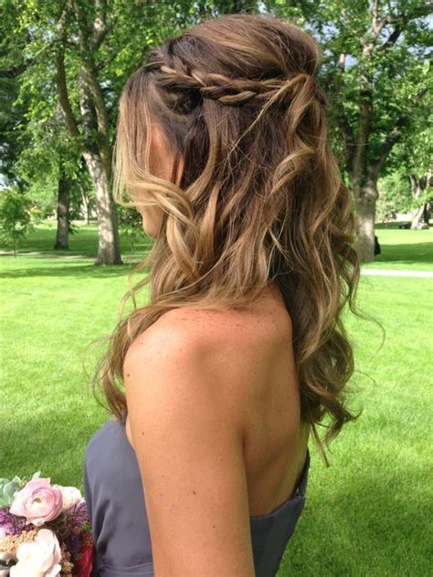 Wedding Hairstyles For Bridesmaids Half Up Half by Braid Half Up Do Diy Wedding Hairstyles For Medium Hair