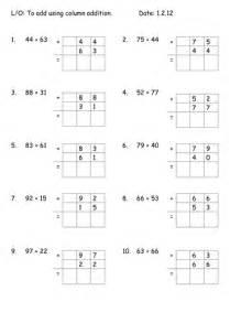 column addition worksheets by mariawiddows teaching