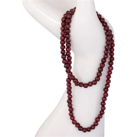 14k Gold Garnet Necklace by 14k Gold Garnet Bead Necklace With 14k Gold Clasp 17 5