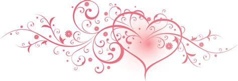 pink swirl heart clipart