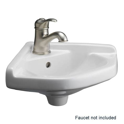 barclay products corner wall mounted bathroom sink in