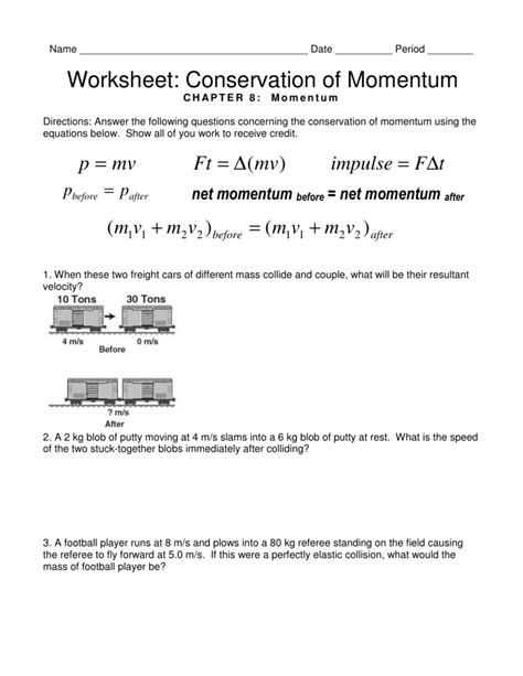 Conservation Of Momentum Worksheet Answers uncategorized conservation of momentum worksheet answers