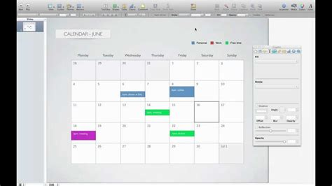 calendar template for keynote youtube