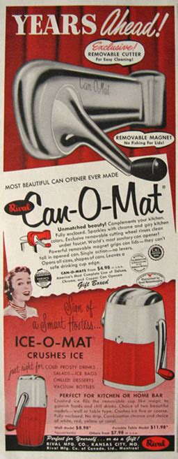 Can O Mat by 1955 Can O Mat Can Opener O Mat Crusher Ad Vintage Household Ads