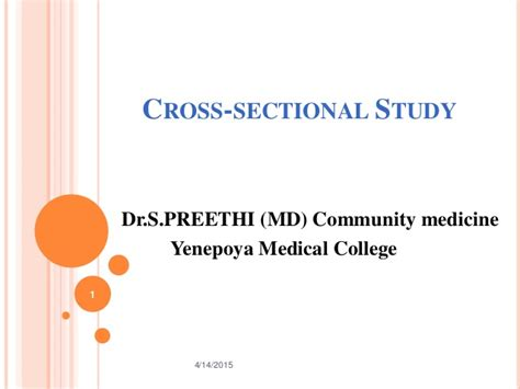 A Cross Sectional Study Is One In Which by Cross Sectional Study