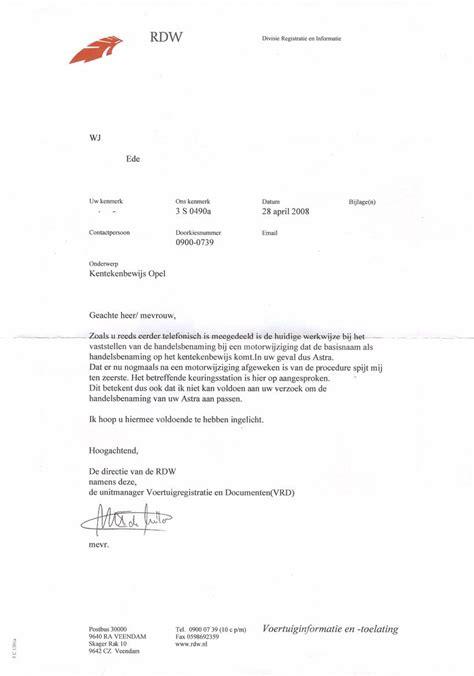voorbeeldbrief rdw astra gsi forum onderwerp redbill s gsi the complete story update 20 01 18