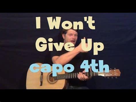 tutorial gitar i won t give up jason mraz i wont give up piano chords how to play i