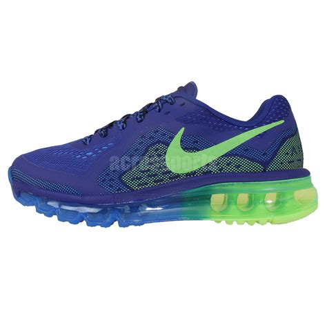 nike running shoes for youth nike air max 2014 gs blue green 2014 youth boys