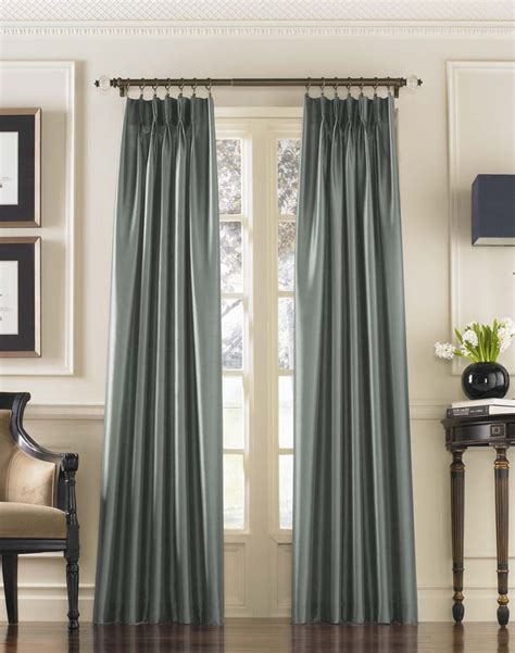 drapery lengths marquee faux silk pinch pleat drapery curtainworks com