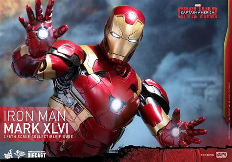 Iron Mk 46 Marvel Figure toys civil war iron 46 die cast figure