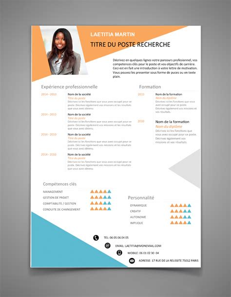 Curriculum Vitae Exemple 2016 by Modele Cv 2016 Word Document