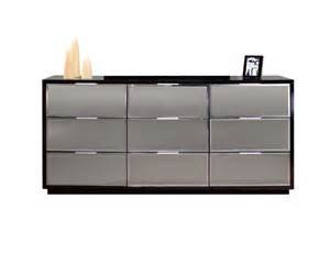 mera black lacquer and mirror dresser