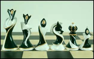 Art Deco Chess Set by Karnab 230 R Quot Purely Decorative Quot