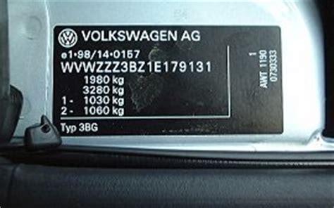 vw passat volkswagen vin number location vehicle