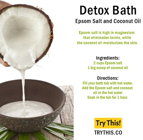 Epsom Salt And Coconut Detox Bath by Top 25 Detox Bath Recipes Tips