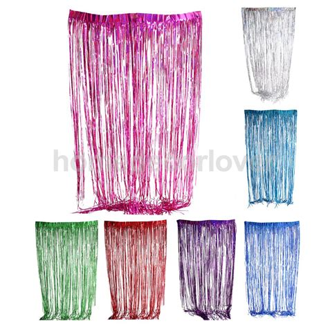 fringe curtains for party metallic fringe curtain party foil tinsel room door