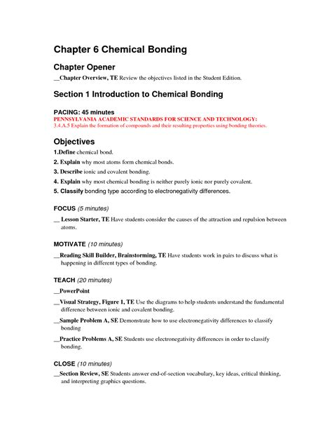 Chapter 6 Chemical Bonding Worksheet Answers by 14 Best Images Of Worksheet Elements And Bonding Ionic