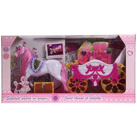 Cavallo Con Carrozza Cavallo Con Carrozza Principessa Con 10 Accessori Gioco