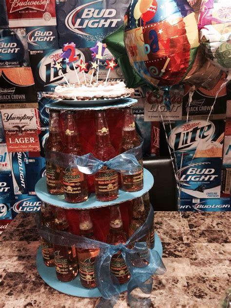 craft beer cake beer cake with landshark bottles 21st yummm