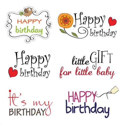 Happy Birthday In Text Design | happy birthday text design vector material vector