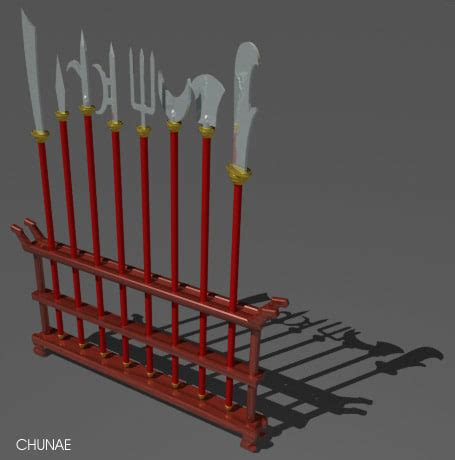 weapon racks chinese weapon rack 3d model