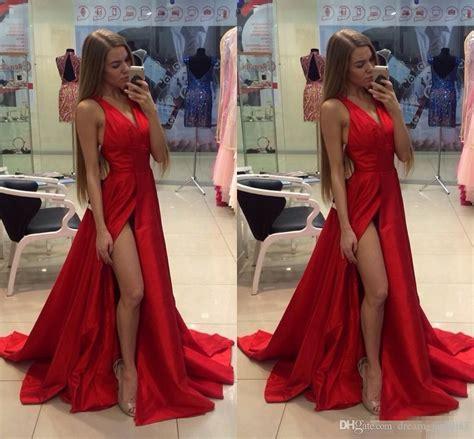 Open Slit Dress 2017 cheap thigh slit evening dresses v neck open