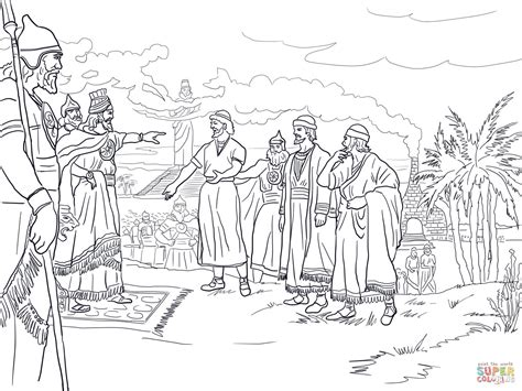 shadrach meshach and abednego coloring page shadrach meshach and abednego coloring pages coloring pages
