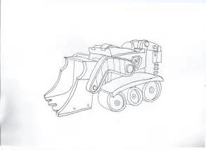 rubble paw patrol coloring page paw patrol rubble s car by pawpatrolfan66 on deviantart
