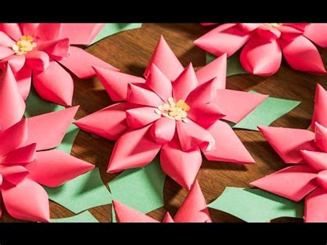 n crafty do it yourself paper poinsettias