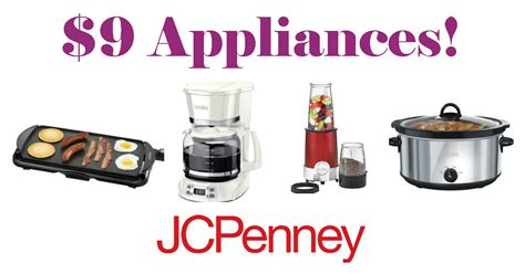 jcpenney kitchen appliances jcpenney 9 small appliances save 80 daily deals
