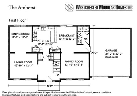 house plans 2000 sq ft 2 story amherst by westchester modular homes two story floorplan