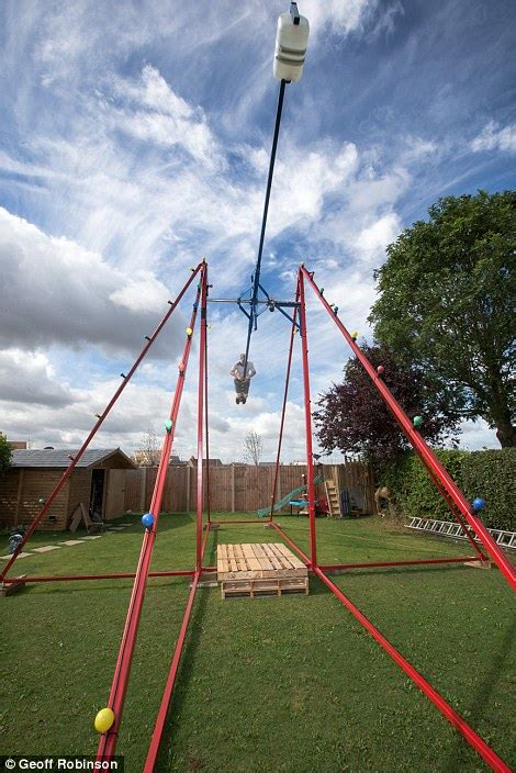 upside down swing video of stanford father who built 360 degree swing in his